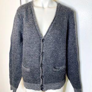 Marc Jacobs Grey Mohair Wool Cardigan Sweater XL